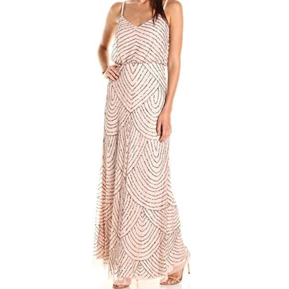 b05166e8a83 Adrianna Papell Dresses   Skirts - adrianna papell womens long beaded  blouson gown.